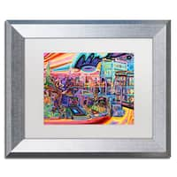 Josh Byer 'Dusk' Matted Framed Art