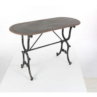 Benzara Antiqued Metal Console Table