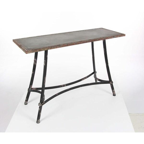 Benzara Substantial Metal Console Table