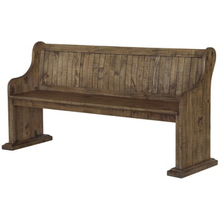 The Gray Barn Combe Magna Wood Dining Bench in Weathered Barley
