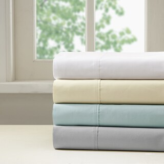 Madison Park 400 Thread Count Aloe Vera Cotton Sheet Set 4 Color Option
