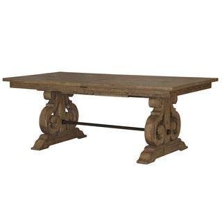 Willoughby Rectangular Wood Dining Table in Weathered Barley
