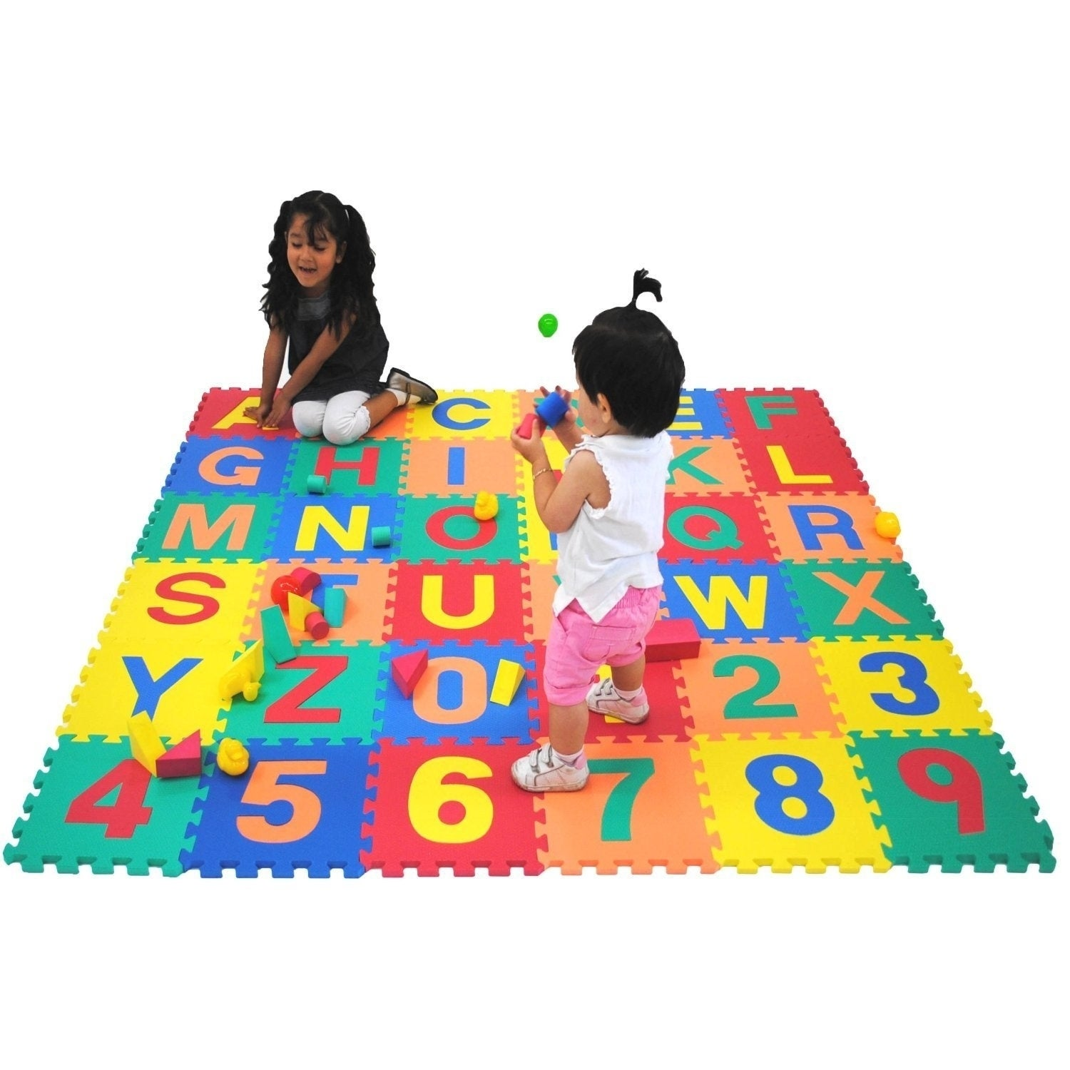 36Pc Alphabet Play Mat BABY SOFT FOAM Puzzle Letters /& Numbers Nice