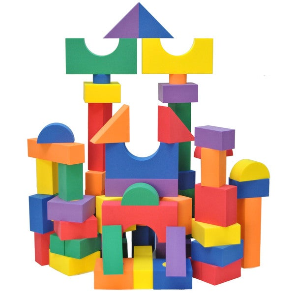 Wonder Blocks Kids Non-Toxic Non-Recycled Quality Foam Wonder Blocks (100 Piece)