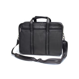 Bellino Black Leather 15-inch Laptop Briefcase|https://ak1.ostkcdn.com/images/products/15230179/P21703084.jpg?impolicy=medium