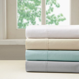 Madison Park 400 Thread Count Aloe Vera Cotton Pillowcases 4 Color Option