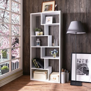 Acme Furniture Mileta II Black/White Veneer Bookshelf