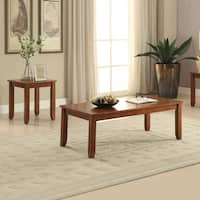 Acme Furniture Maine Brown Wood Coffee and End Tables (Set of 3)