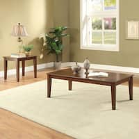 Acme Furniture Marilla Walnut Finish Wood Coffee and End Tables (3-Piece Set)