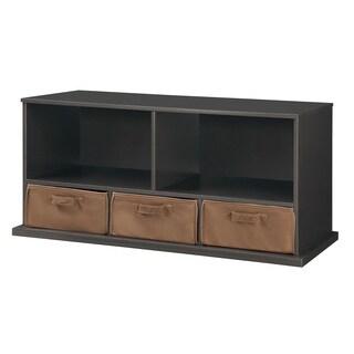 Badger Basket Slate Shelf Storage Cubby with Three Baskets