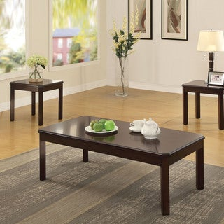 Acme Furniture Marcia Walnute Coffee and End Tables (Set of 3)