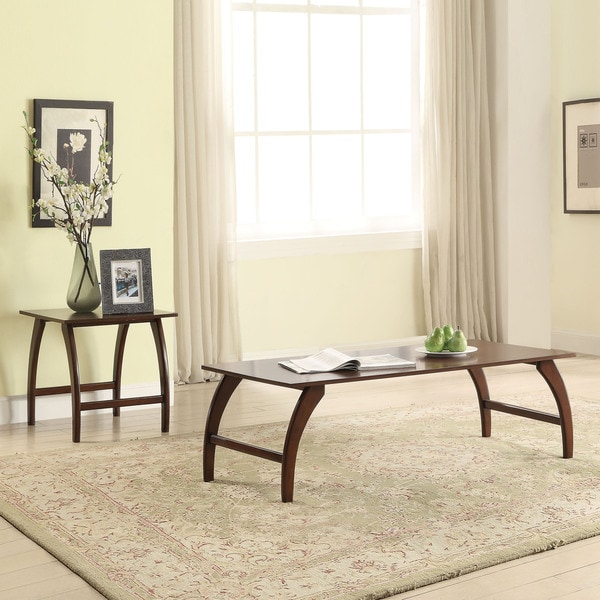 Shop Acme Furniture Mansour Walnut Coffee And End Tables