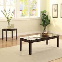Acme Furniture Malak Walnut Finish Wood Coffee and End Table (Set of 3)