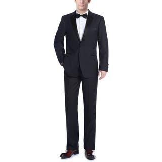 Verno Men's Dark Navy Classic Fit Two-piece Notch Collar Tuxedo With Pipping Finish|https://ak1.ostkcdn.com/images/products/15231498/P21704973.jpg?impolicy=medium