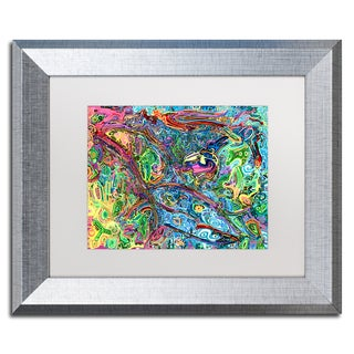 Josh Byer 'One Bird Sings' Matted Framed Art