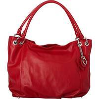 Sharo 'Deleite' Red Leather Shoulder Handbag