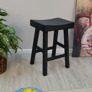 Trym Wood Saddle Seat Counter Stool
