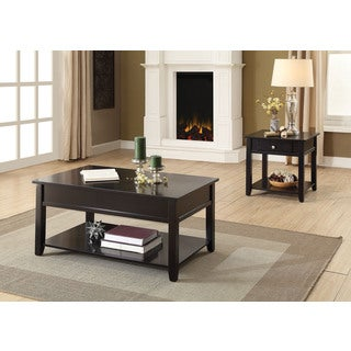 Acme Furniture Malachi Black MDF/Wood/Veneer Coffee Table and End Table