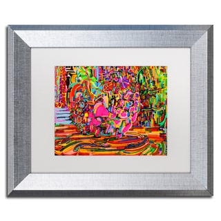 Josh Byer 'Nude Woman As A Bowl Of Fruit' Matted Framed Art