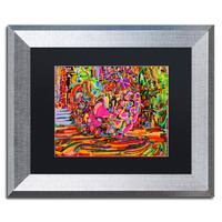 Josh Byer 'Nude Woman As A Bowl Of Fruit' Matted Framed Art - Multi