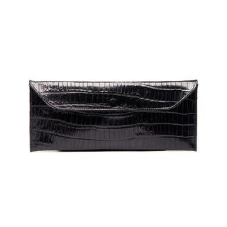 Viva Bag Croco Embossed Leather Envelope Clutch (Option: Red)|https://ak1.ostkcdn.com/images/products/15231961/P21706356.jpg?impolicy=medium