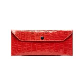 Viva Bag Croco Embossed Leather Envelope Clutch - Small
