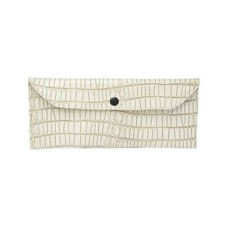 Viva Bag Croco Embossed Leather Envelope Clutch - Small