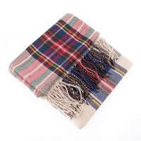 Women's Oversized Tartan Plaid Scarf
