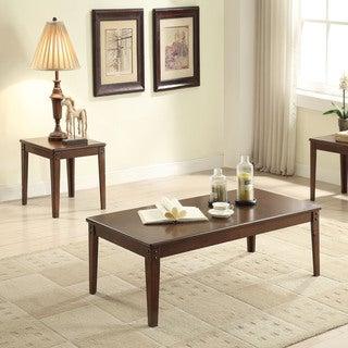 Acme Furniture Makani 3-piece Walnut Coffee and End Table Set