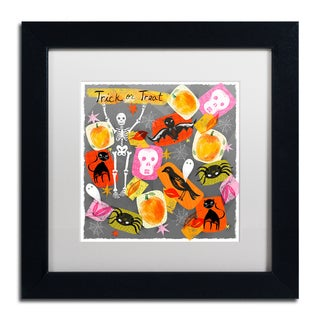 Lisa Powell Braun 'Trick Or Treat' Matted Framed Art