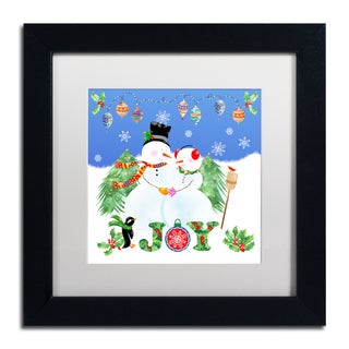 Lisa Powell Braun 'Xmas Snowman' Matted Framed Art