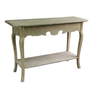 Jeco Tan Wood Antique Console Table