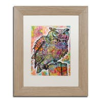 Dean Russo 'Owl Perch' Matted Framed Art