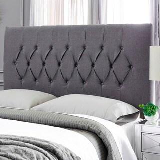 Humble + Haute Hudson Textured Charcoal Grey Upholstered Headboard