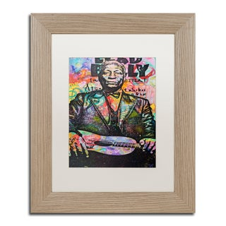 Dean Russo 'Lead Belly' Matted Framed Art