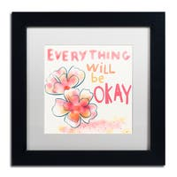 Lisa Powell Braun 'Okay' Matted Framed Art