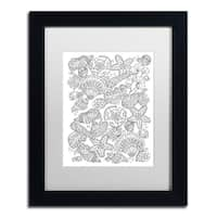 Lisa Powell Braun 'Nautical Shells' Matted Framed Art - Black/White