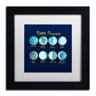Lisa Powell Braun 'Moon Phases' Matted Framed Art