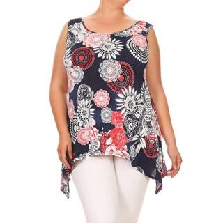 Women's Plus Size Sleeveless Floral Tank Top