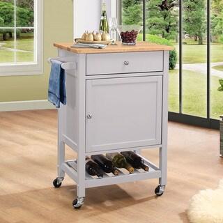 Acme Furniture Hoogzen Grey MDF Kitchen Cart
