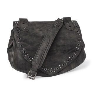 Steve Madden Finn Charcoal Crossbody Handbag