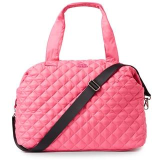 Steve Madden BKWest Pink Quilted Nylon Satchel Handbag