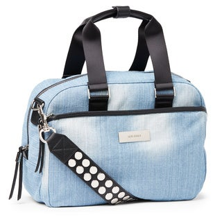 Steve Madden Swift Studded Strap Nylon Satchel Handbag
