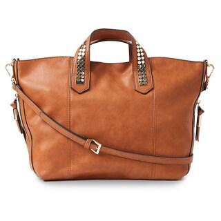 Steve Madden Liv Studded Strap Satchel Handbag