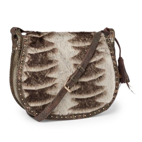 Steven By Steve Madden Eldora Faux Fur Saddle Crossbody Handbag