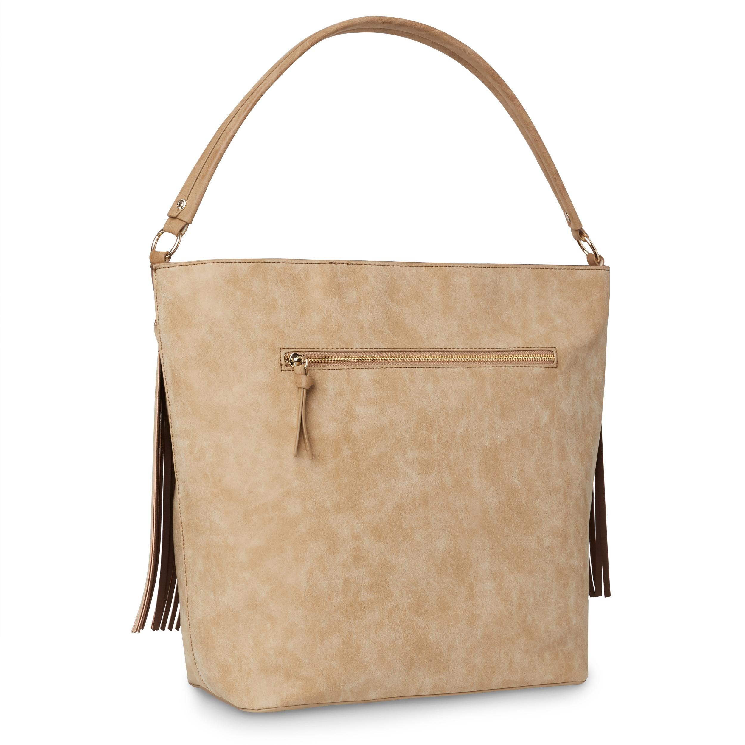 f44bc053e8 Shop Steven by Steve Madden Gena Fringed Hobo Handbag - Free Shipping Today  - Overstock - 15232331