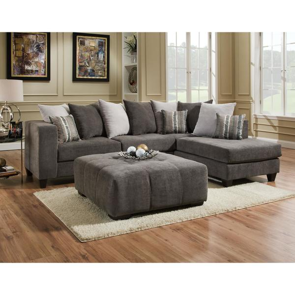 Shop Sofa Trendz Daytona 2 Pc Sectional Amp Ottoman Set