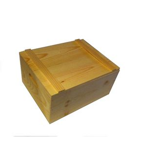 Wooden Box w/ Lid Unfinished