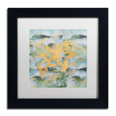 Lisa Powell Braun 'Geode Abstract 1' Matted Framed Art - Green