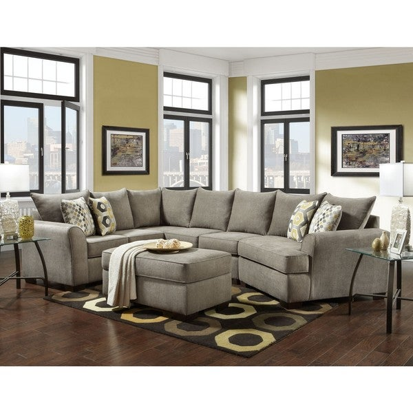 SOFA TRENDZ Cooper 2 Pc Sectional U0026amp; Ottoman Set